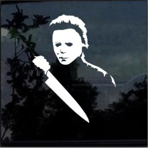 Michael Myers Horror Window Decal Sticker a4