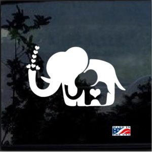 Mom and Baby Elephant Decal Sticker