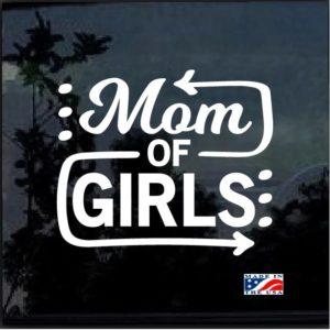 Mom of Girls Decal Sticker