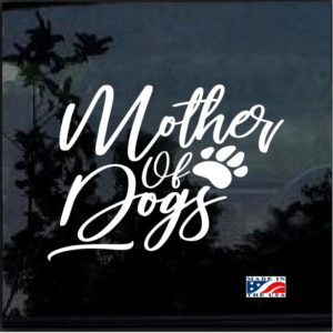 Mother of Dogs Paw Print Decal Sticker