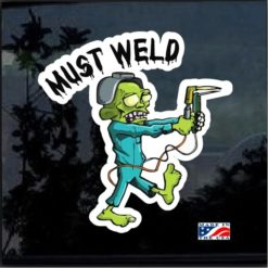 Must Weld Zombie Full Color Decal Sticker