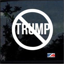 NO Trump Window Decal Sticker