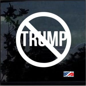 NO Trump Window Decal Sticker