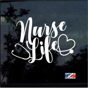Nurse Life Stethoscope Heart Window Decal Sticker