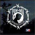POW MIA Barbed Wire Military Window Decal Stickers