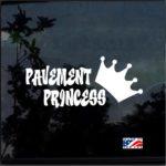 Pavement Princess Vinyl Truck Decal Sticker