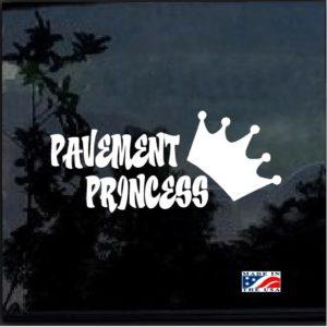 Pavement Princess Vinyl Window Decal Sticker