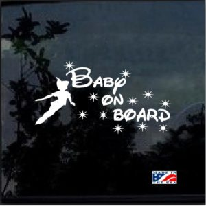 Peter Pan Baby on Board Decal sticker