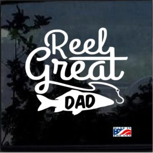 Reel Great Dad Fishing Decal Sticker