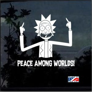 Rick Peace Among Worlds Decal Sticker