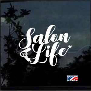 Salon Life Hair Dryer Decal Sticker