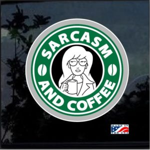 Sarcasm & Coffee Decal Sticker