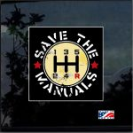 Save The Manuals Full Color Decal  - Cool Stickers