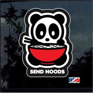 Send Noods Panda Decal Sticker