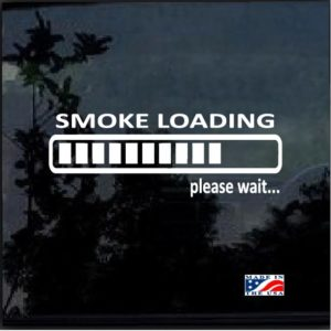 Smoke Loading Vinyl Window Decal Sticker