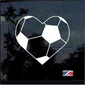 Soccer Ball Heart Love Soccer Decal Sticker