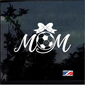 Soccer Mom with Bow Decal Sticker