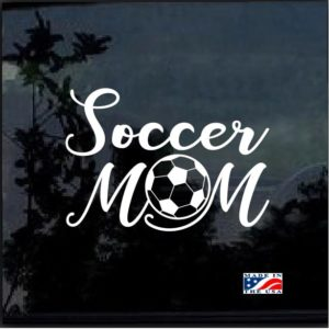 Soccer mom with ball Decal Sticker