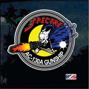 Spectre Gunship Lockheed ac130 Full Color Decal sticker