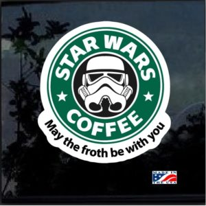 Star Wars Coffee Full Color Decal Sticker