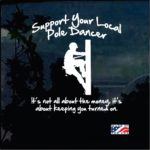 Lineman Decal - Support your local Pole Dancer Sticker