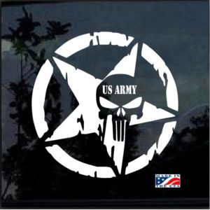 US Army Punisher Star Decal Sticker