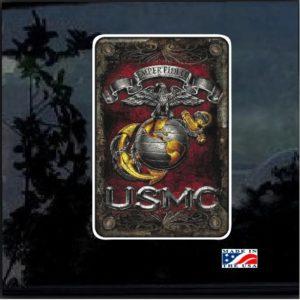 USMC Semper Fidelis Full Color Decal
