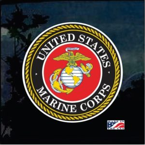 United States Marines Full Color Decal Sticker