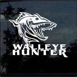 Walleye Hunter Fishing Window Decal Sticker