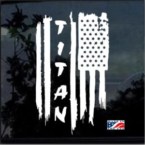 Nissan Titan Weathered American Flag Decal Sticker