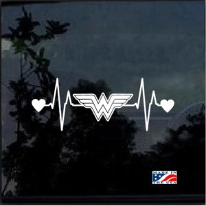 Wonder Woman Heartbeat Decal Sticker