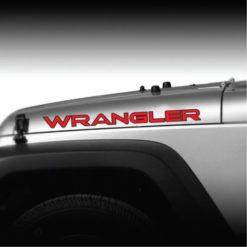 Wrangler ooutlined 2 color hood decal set a2
