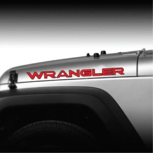 Wrangler ooutlined 2 color hood decal set a2