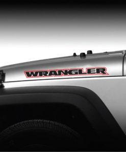 Jeep Wrangler 2 color Outlined Hood Decal Sticker Set of 2