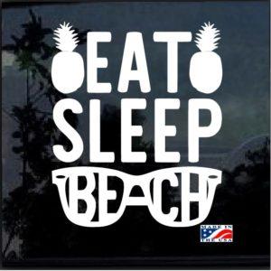 Eat Sleep Beach Window Decal Sticker