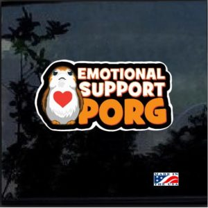 Emotional Support Porg Full Color Decal Sticker