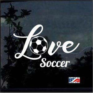 Love Soccer Decal Sticker