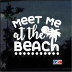 Meet Me at the Beach Window Decal Sticker