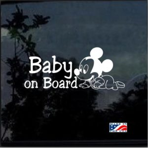 Mickey Mouse Crawling Baby on Board Decal Sticker
