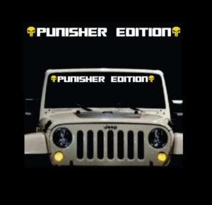 Punisher Edition Windshield Banner Decal 2 Color