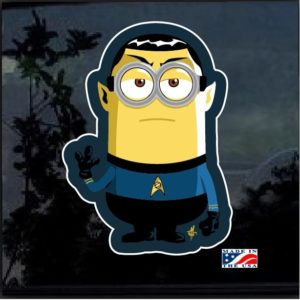 Minion Spock Full Color Decal Sticker