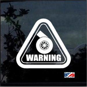 Warning turbo JDM decal sticker