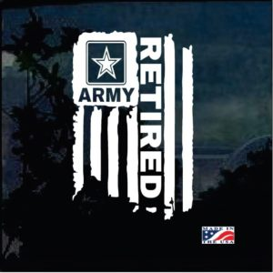 Army Retired Weather Flag Decal Sticker
