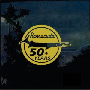 Barracuda 50 year badge decal sticker