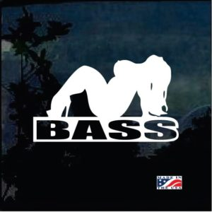 Bass mud flap girl Decal Stickers