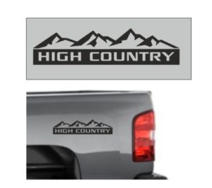 Chevrolet Silverado High Country Decal Sticker 12 x3