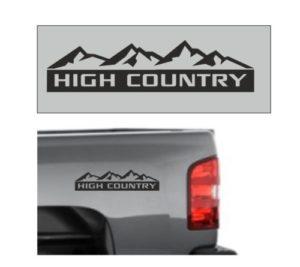 Chevrolet Silverado High Country Decal Sticker 12 x3