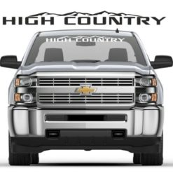 Chevy High Country Windshield Banner Decal Sticker
