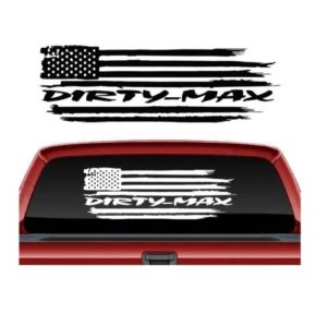 Dirtymax Weathered Flag Window Truck Decal Sticker
