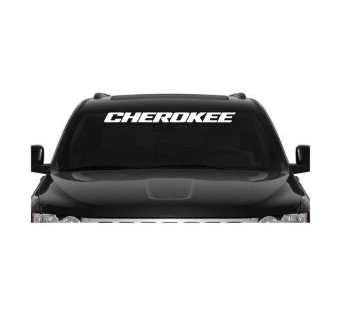 Jeep Cherokee Windshield Banner Decal Sticker II